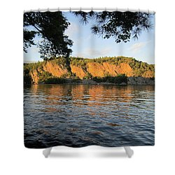 Shower Curtain featuring the photograph sunset in the Bay by Jieming Wang