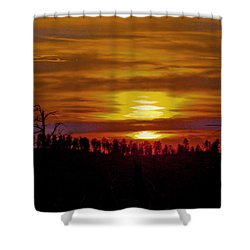 Shower Curtain featuring the photograph Sunset In The Black Hills 2 by Cathy Anderson