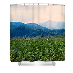 Sunset In The Cornfields Shower Curtain by Melanie Lankford Photography