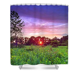 Sunset In The Park  Shower Curtain
