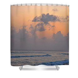Sunset In The Tropics Shower Curtain by John Malone