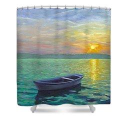 Sunset Shower Curtain by Joe Maracic