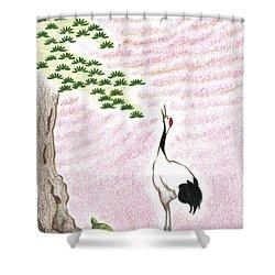 Sunset Shower Curtain by Keiko Katsuta