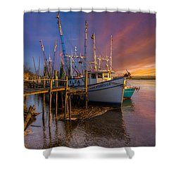 Sunset Lady Shower Curtain by Debra and Dave Vanderlaan