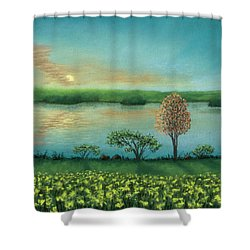 Sunset Lake B Shower Curtain