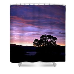 Sunset Lake Shower Curtain by Matt Harang