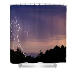 Sunset Lightning Shower Curtain