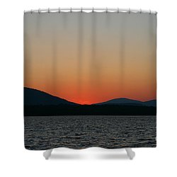 Sunset Lines Of Lake Umbagog  Shower Curtain