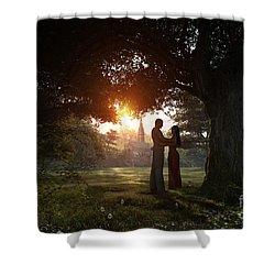 Sunset Lovers Shower Curtain by Dominic Davison