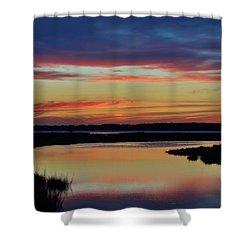 Sunset Marsh Shower Curtain
