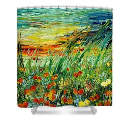 Sunset Meadow Series Shower Curtain