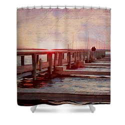 Sunset Memories From Chincoteague Shower Curtain by Julia Springer