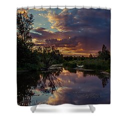 Sunset Mirror Shower Curtain