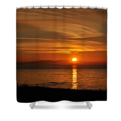 Sunset Mood Shower Curtain by Sabine Edrissi