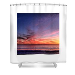 Sunset Moon Rise Shower Curtain