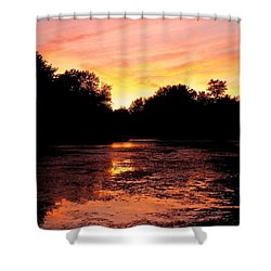 Shower Curtain featuring the photograph Sunset Near Rosemere - Qc by Juergen Weiss