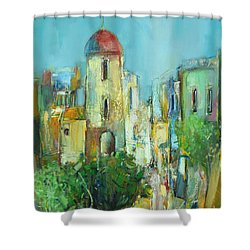 Sunset Neighborhood Shower Curtain