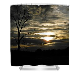 Sunset Of Life Shower Curtain by Nick Kirby