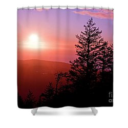 Sunset Off Mt Erie Washington Art Prints Shower Curtain