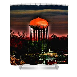 Sunset On A Charlotte Water Tower By Diana Sainz Shower Curtain by Diana Sainz