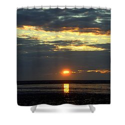 Sunset On A Cloudy Evening Shower Curtain