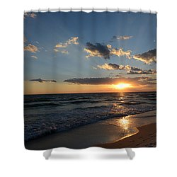 Sunset On Alys Beach Shower Curtain by Julia Wilcox