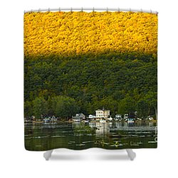 Sunset On Canandaigua Lake Shower Curtain by Steve Clough