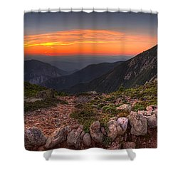 Sunset On Franconia Ridge Shower Curtain