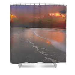 Sunset On Hilton Head Island Shower Curtain by Peter Lakomy