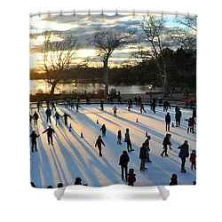 Sunset On Ice  Shower Curtain by Diane Lent