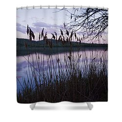 Sunset On Rockland Lake - New York Shower Curtain by Jerry Cowart