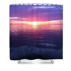 Shower Curtain featuring the photograph Sunset On The Bay by Tiffany Erdman