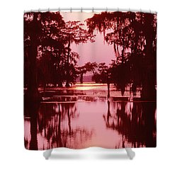 Shower Curtain featuring the photograph Sunset On The Bayou Atchafalaya Basin Louisiana by Dave Welling