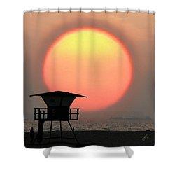 Sunset On The Beach Shower Curtain by Ben and Raisa Gertsberg