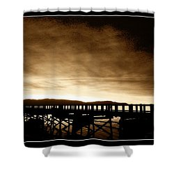 Sunset On The Boardwalk Shower Curtain