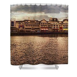 Sunset On The Boardwalk Walt Disney World Shower Curtain