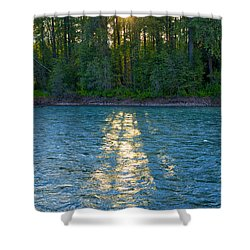 Sunset On The Bulkley Shower Curtain
