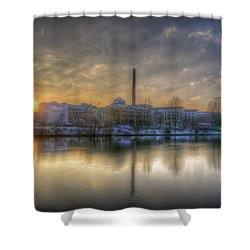 Sunset On The Esifabrik Shower Curtain by Nathan Wright