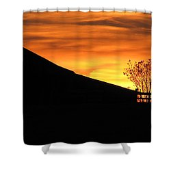 Sunset On The Farm Shower Curtain by Greg Simmons
