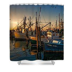 Sunset On The Fleet Shower Curtain