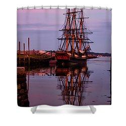 Sunset On The Friendship Of Salem Shower Curtain by Jeff Folger