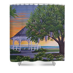 Sunset On The Gazeebo Shower Curtain