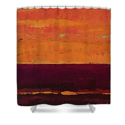 Sunset On The Pier Shower Curtain by Gail Kent