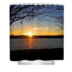 Sunset On The Potomac Shower Curtain