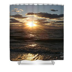 Sunset On Venice Beach  Shower Curtain by Christiane Schulze Art And Photography