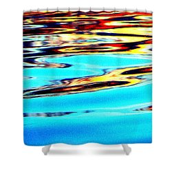 Sunset On Water Shower Curtain by Faith Williams