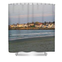 Sunset On York Beach Shower Curtain