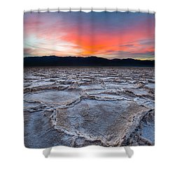 Sunset Over Badwater Shower Curtain