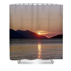 Sunset Over Cook Inlet Alaska Shower Curtain