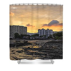 Sunset Over Georgetown Penang Malaysia Shower Curtain